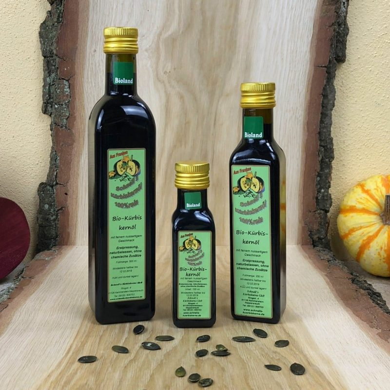 Fränkisches Bioland-Kürbiskernöl