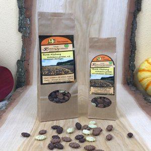 Kürbiskerne - gebrannt mit bunter Schokolade