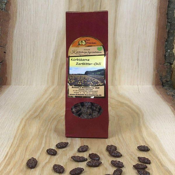 Kürbiskerne - Zartbitterschokolade und Chilli