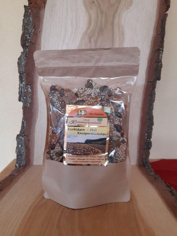 Kürbiskern-Chili-Knusperstückchen