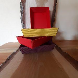 Präsentkorb zum Selbstfüllen viereckig flach