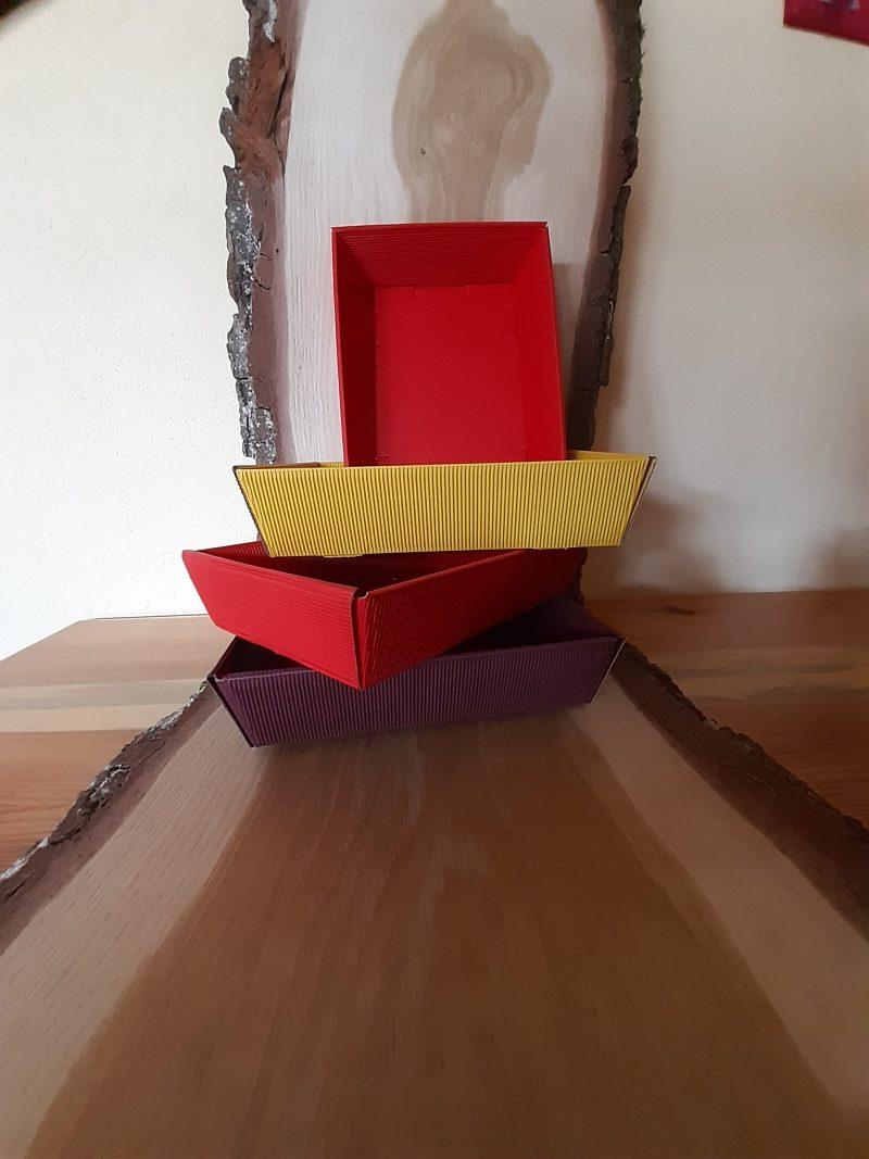 Präsentkorb zum Selbstfüllen viereckig klein
