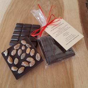 Zartbitterschokolade und gebrannte Kürbiskerne, 45g