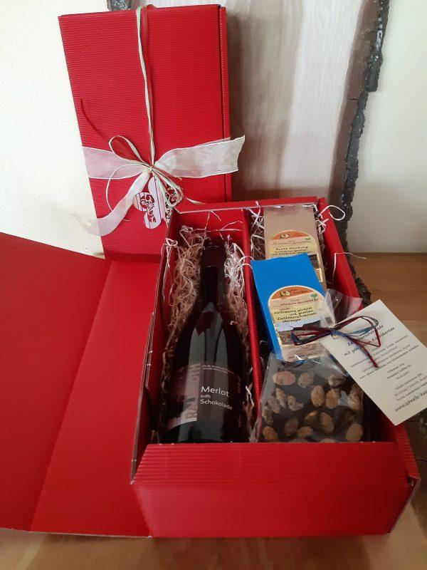 Geschenkbox Schokoliebe