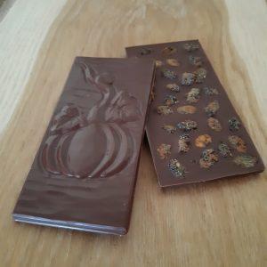 Vollmilchschokolade mit Mohn und Zimt, 75g