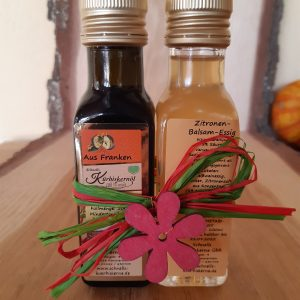 Kürbiskernöl und Zitronen Balsam Essig