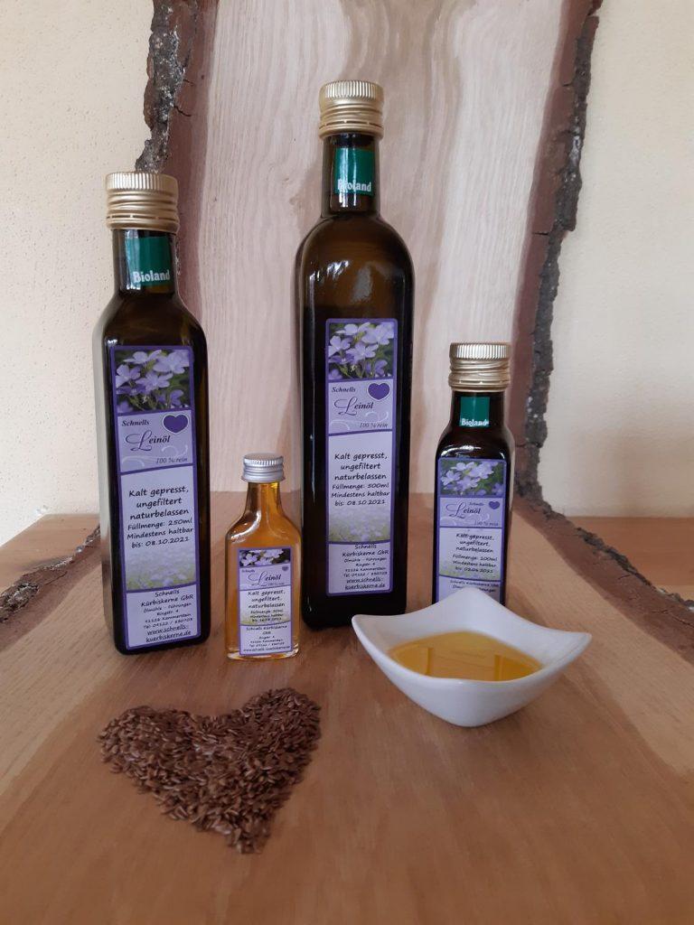 Leinöl – aromatisch, naturbelassen, ungefiltert, kaltgepresst – aus unserer eigenen Ölmühle